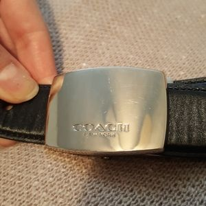 COACH leather reversible black and brown belt